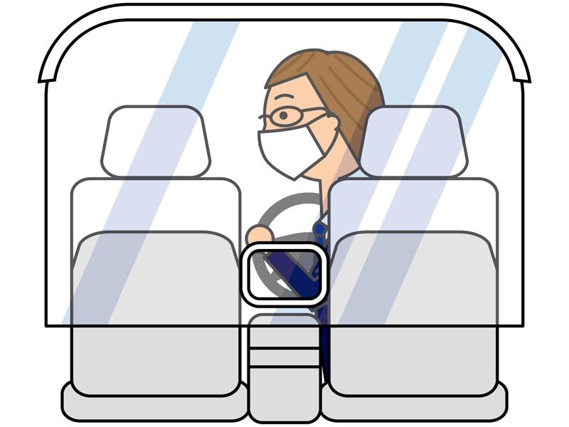 車内の飛散防止